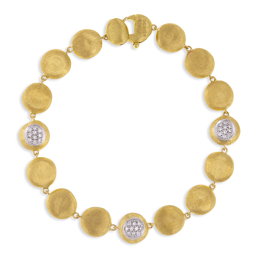 Marco Bicego Yellow Gold & Diamond Station Jaipur Bracelet