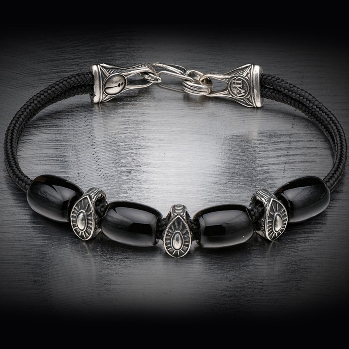 Silver Warrior Sardonyx Gallant William Henry Beaded Bracelet