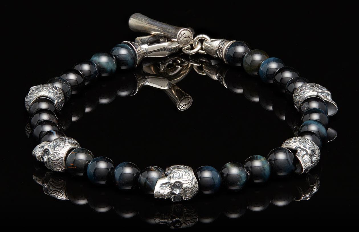 William Henry Patrol Tigers Eye Bracelet  angled image