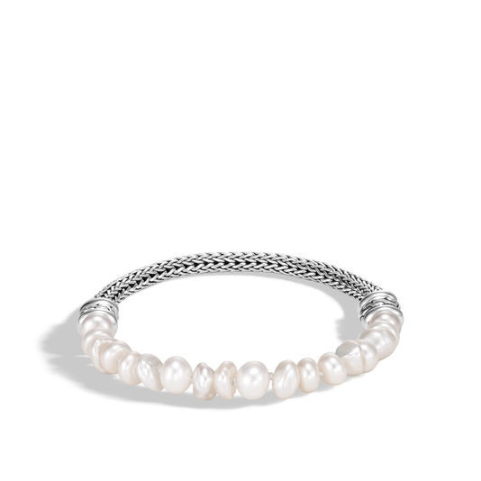 John Hardy Medium Classic Chain Pearl Bead Bracelet in Sterling Silver