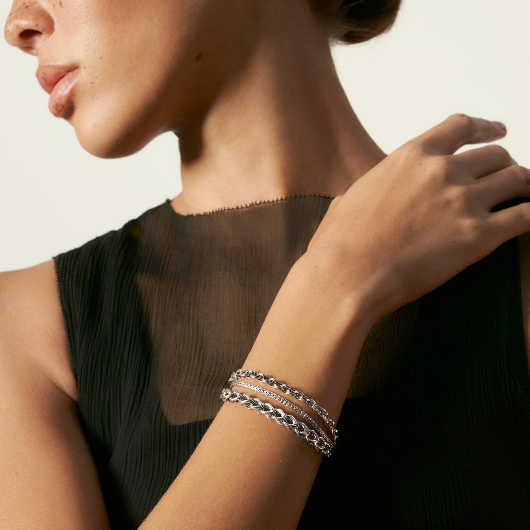 John Hardy Asli Classic Chain Triple Row Link Bracelet on model