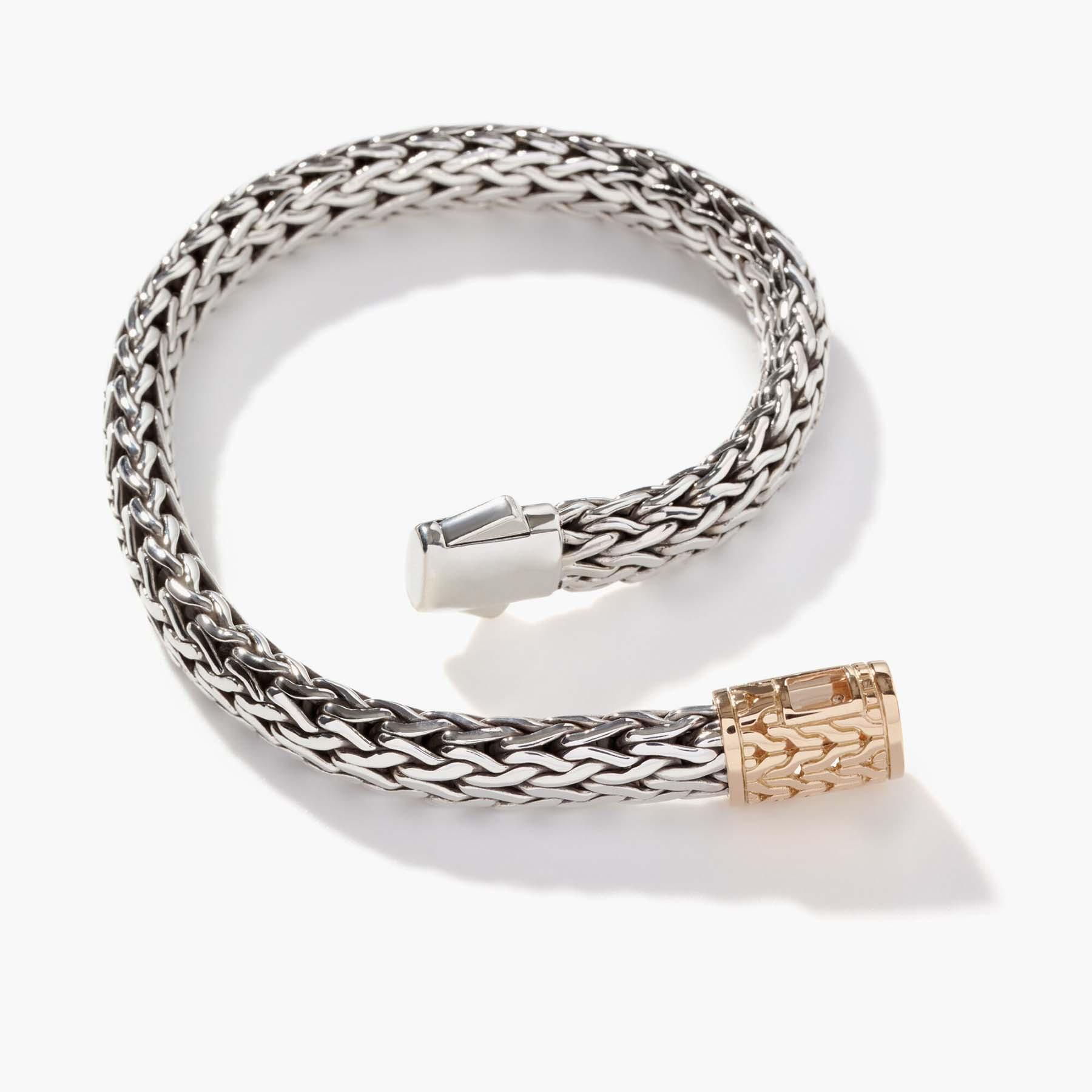 John Hardy Classic Chain Gold & Silver 7.5mm Large Bracelet