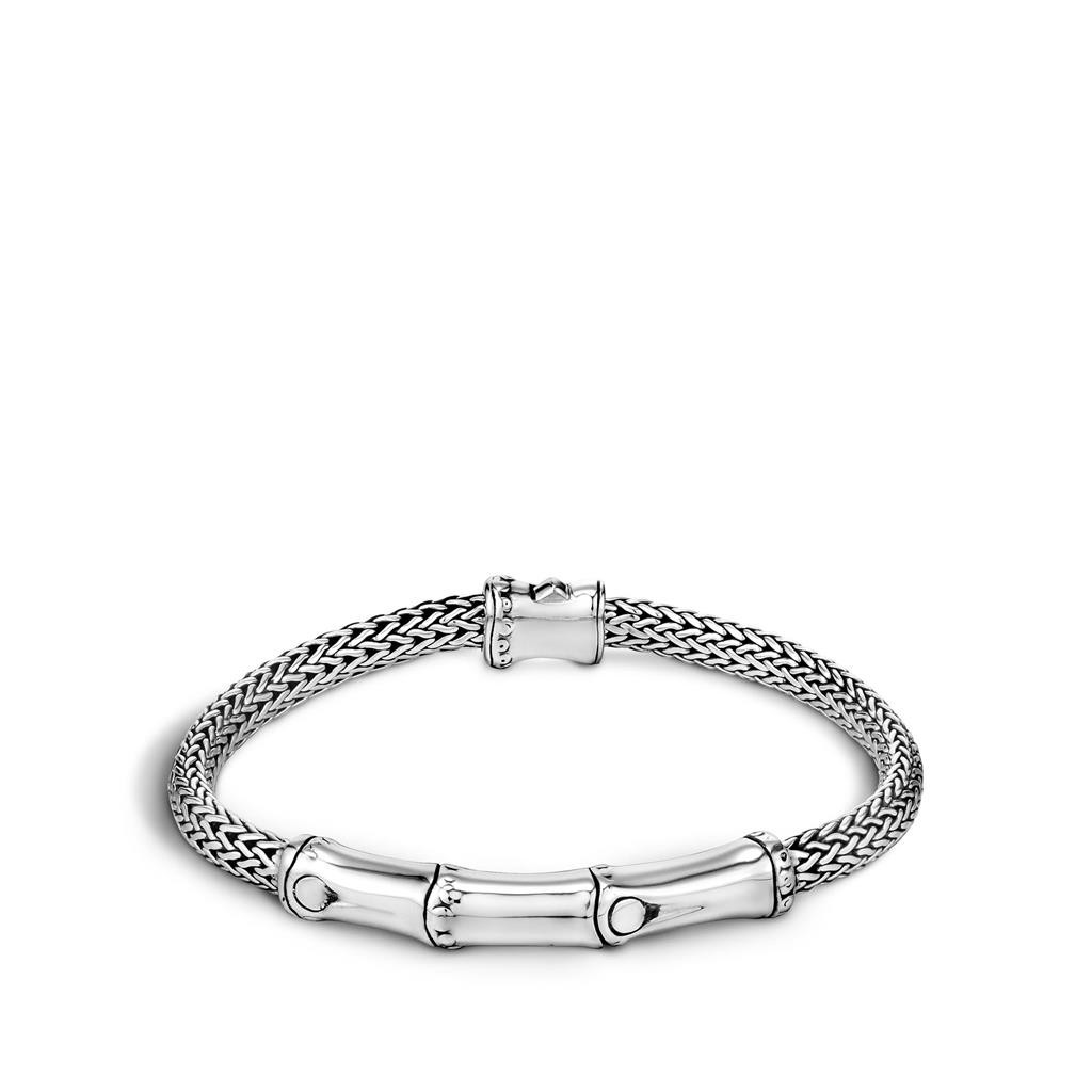 John Hardy Bamboo Station Sterling Silver Chain Bracelet
