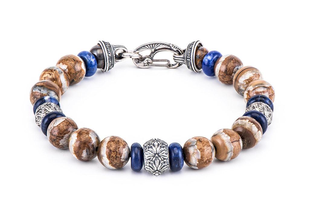 William Henry Boots & Denim Bead Bracelet