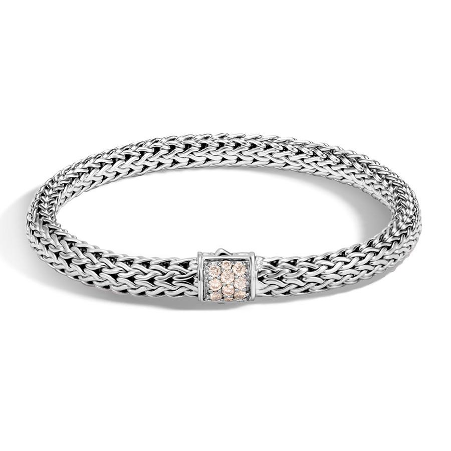 John Hardy Classic Chain 6.5mm Medium Champagne Diamond Bracelet