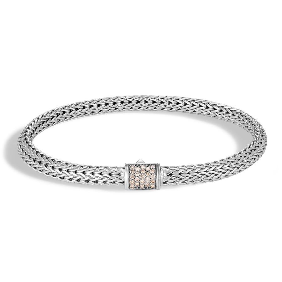 John Hardy Classic Chain Champagne Diamond 5mm Bracelet