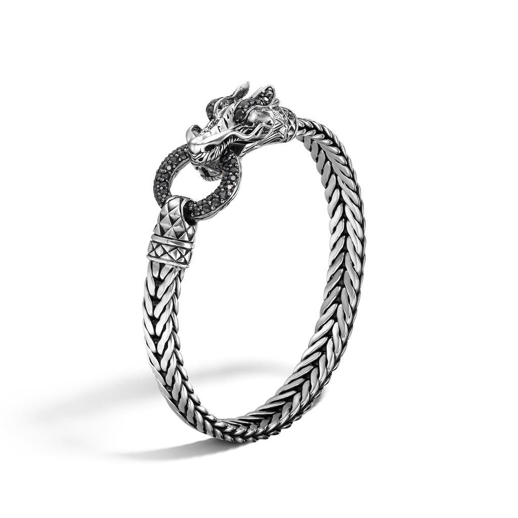 John Hardy Naga Black Sapphire Dragon Silver Bracelet
