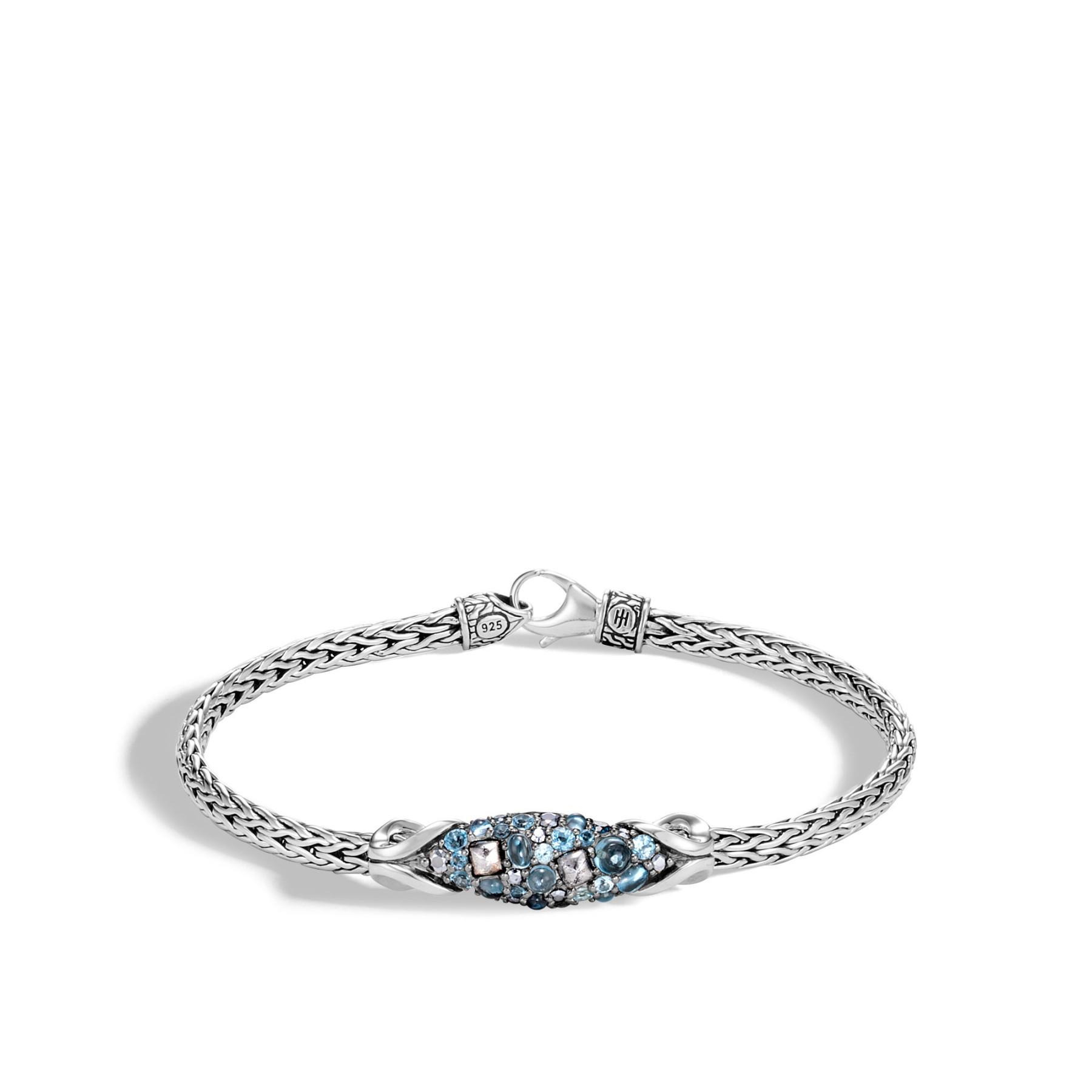 John Hardy Asli Classic Chain Swiss Blue Topaz Bracelet