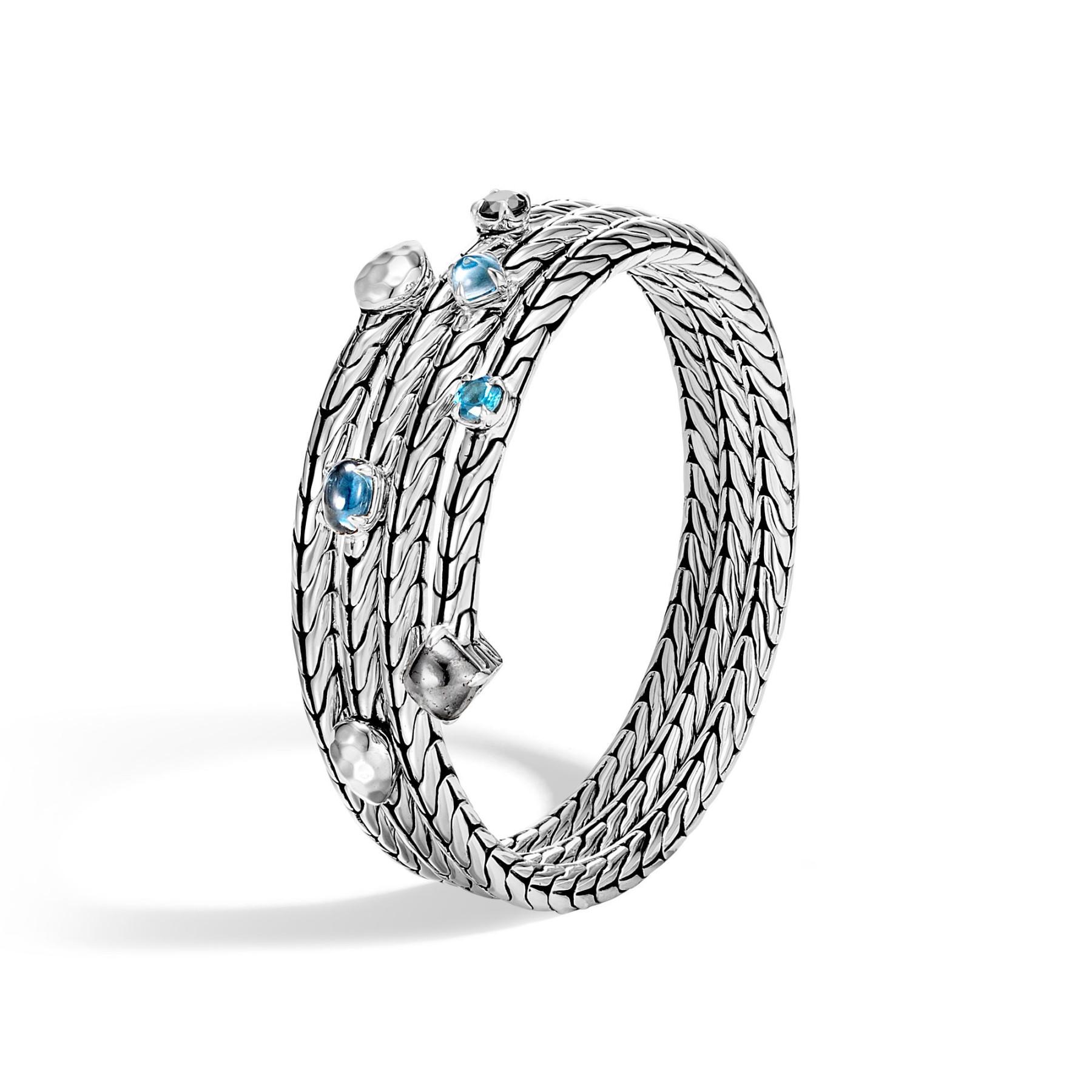 John Hardy Classic Chain Blue Topaz Coil Bracelet angle
