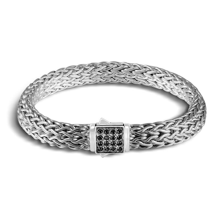 John Hardy Medium Classic Chain Pyrite & Black Sapphire Reversible Bracelet Back View