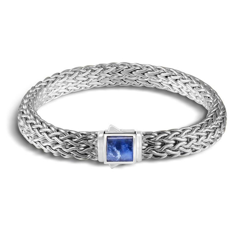 John Hardy Small Classic Chain Black Sapphire Reversible Bracelet