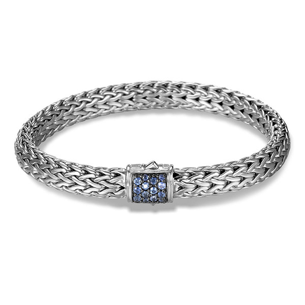 ohn Hardy Classic Chain 7.45mm Small Blue Sapphire Bracelet