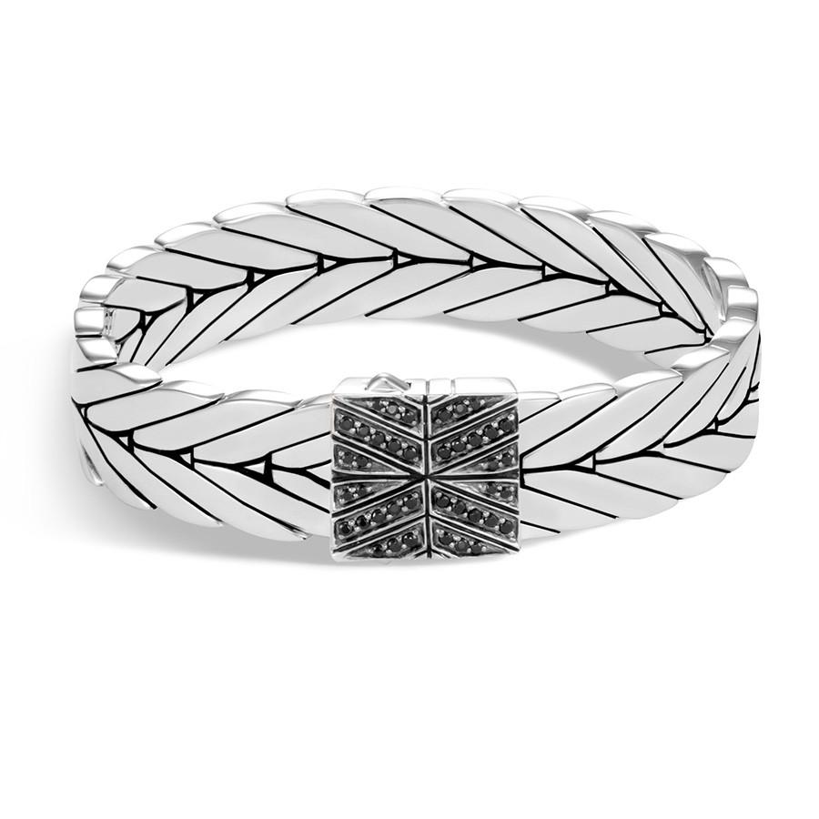 John Hardy 13mm Modern Chain Black Gemstone Bracelet