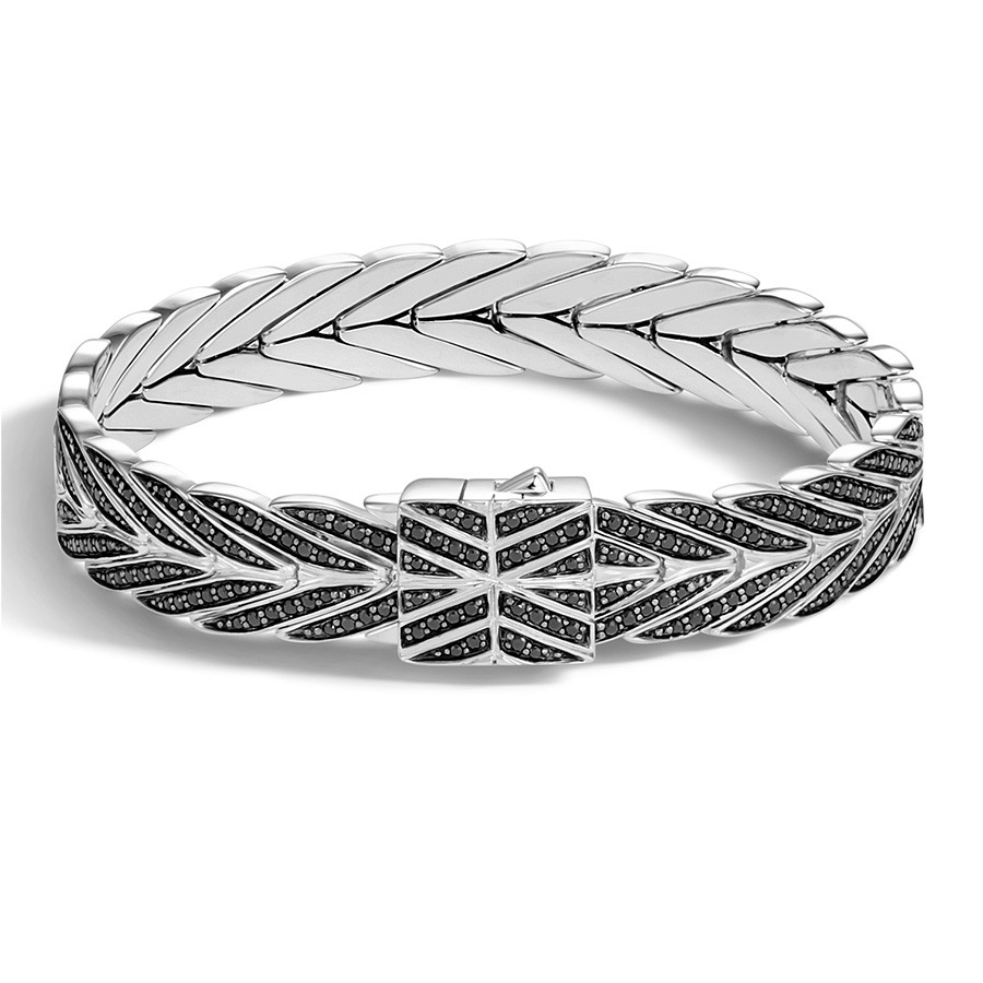 John Hardy Modern Chain Medium Black Sapphire Bracelet