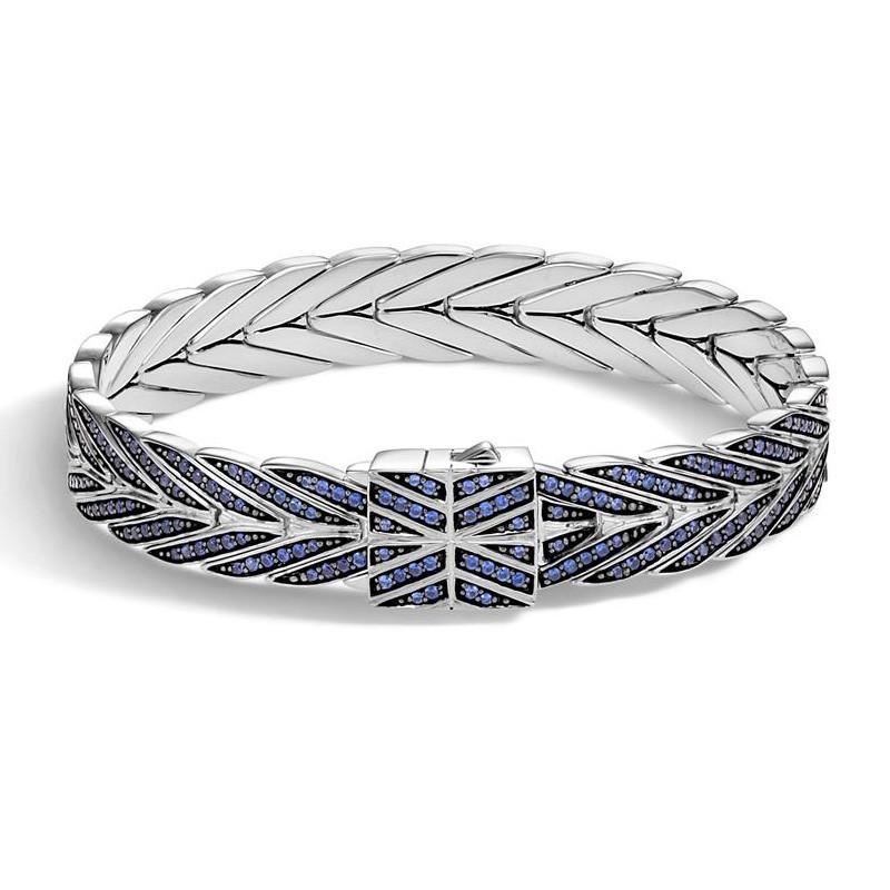 John Hardy 11mm Blue Sapphire Modern Chain Bracelet