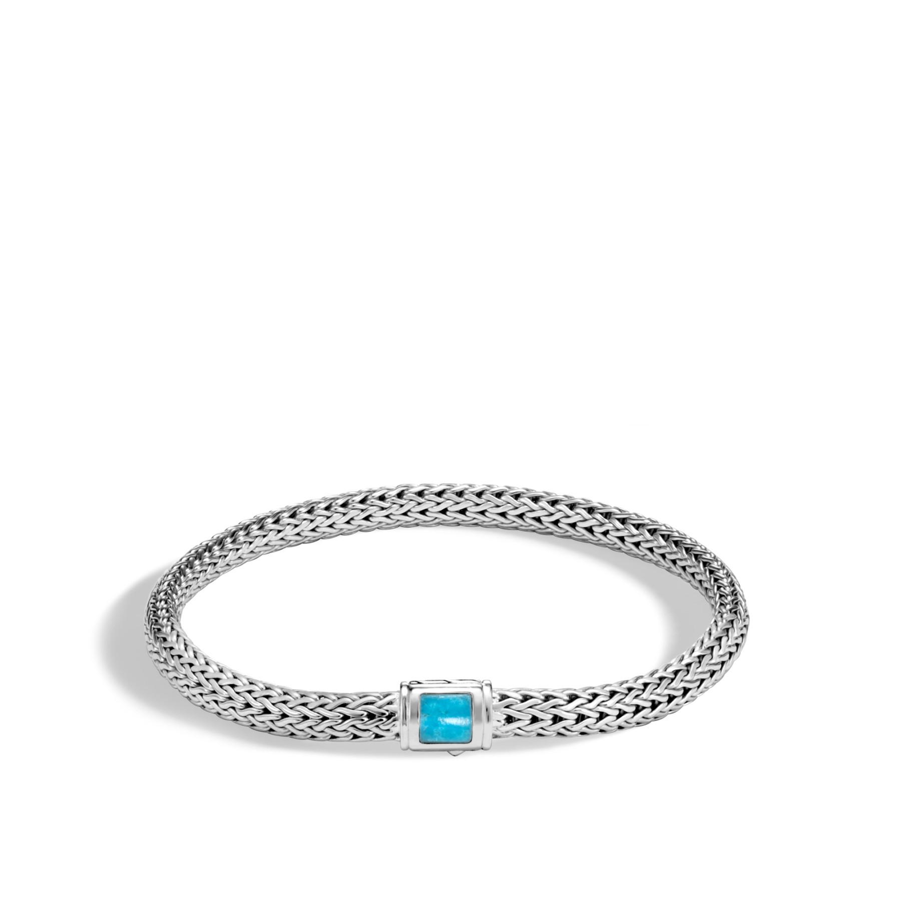 John Hardy Extra Large Classic Chain 5mm Turquoise Bracelet