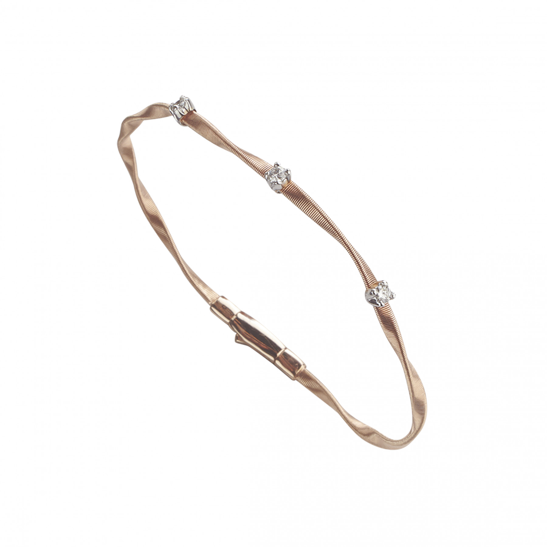 Marco Bicego Marrakech Rose Gold Bracelet with Diamonds