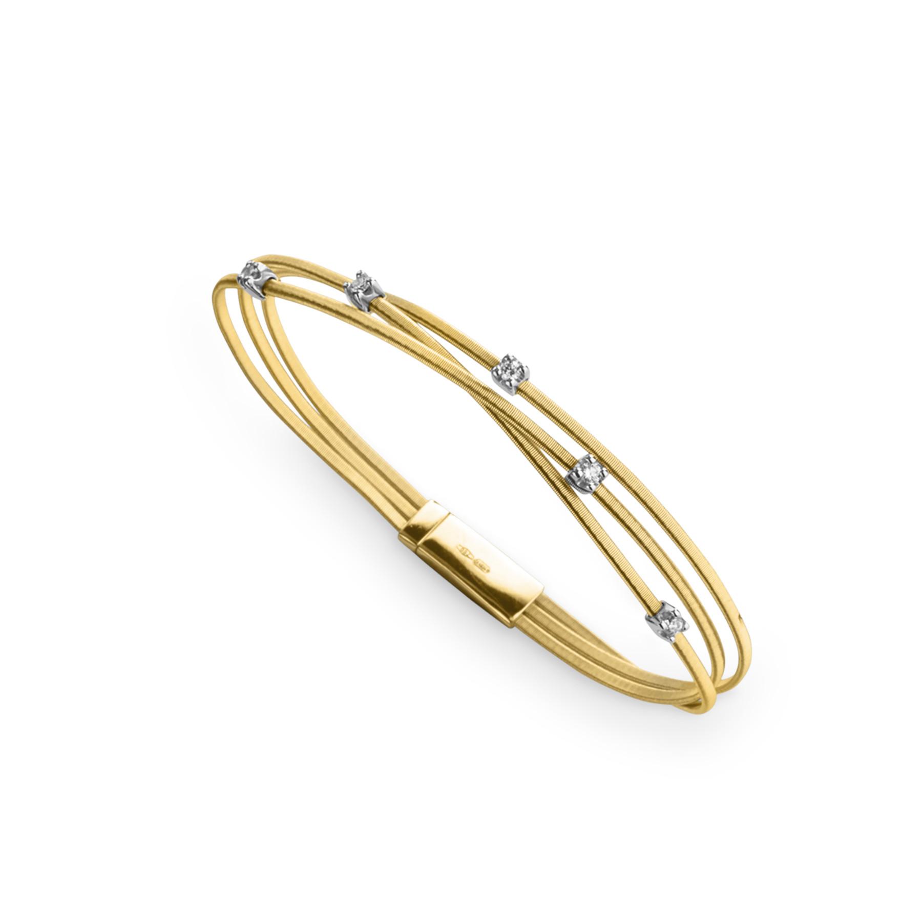 Marco Bicego Goa 3-Strand Bracelet with Diamonds