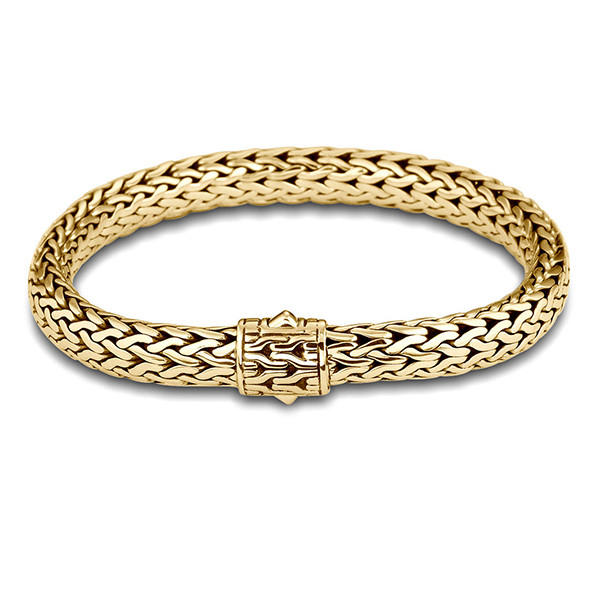 John Hardy Classic Chain 7.45mm Yellow Gold Large Bracelet