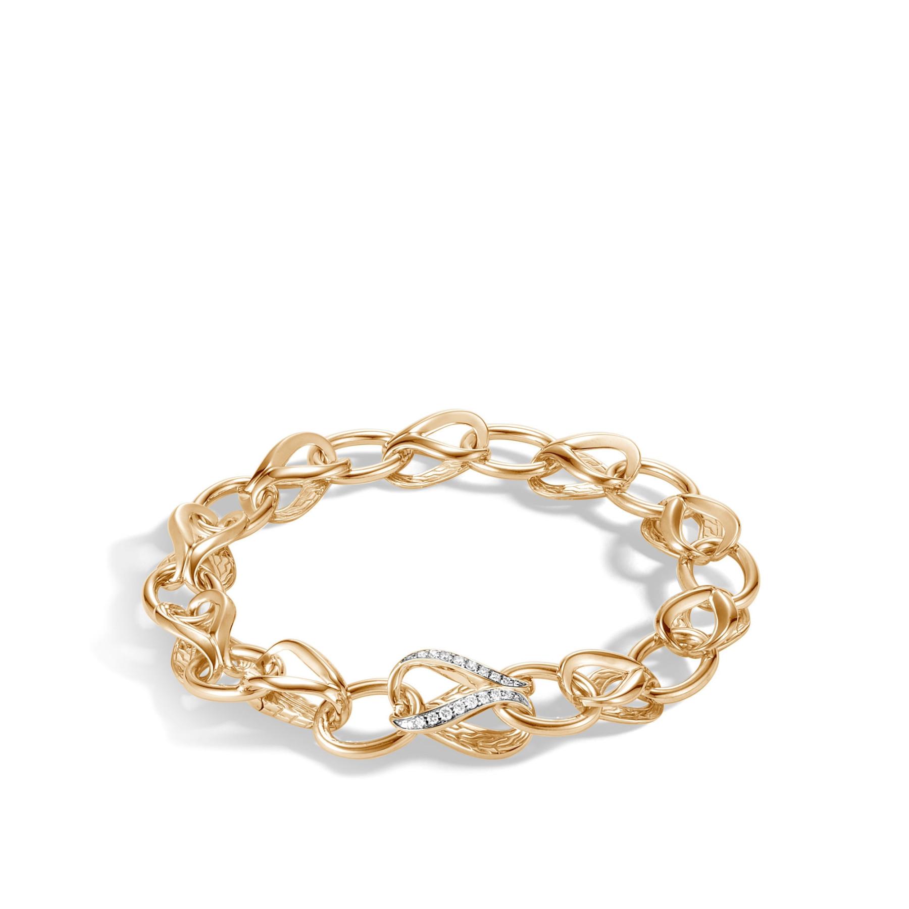 John Hardy Asli Classic Chain Diamond Link Bracelet