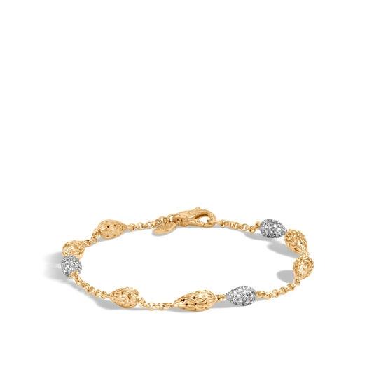 John Hardy Classic Chain Diamond Station Bracelet