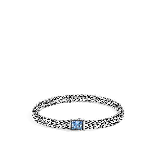 John Hardy Classic Chain Diamond and Topaz Reversible Bracelet - 6.5MM image
