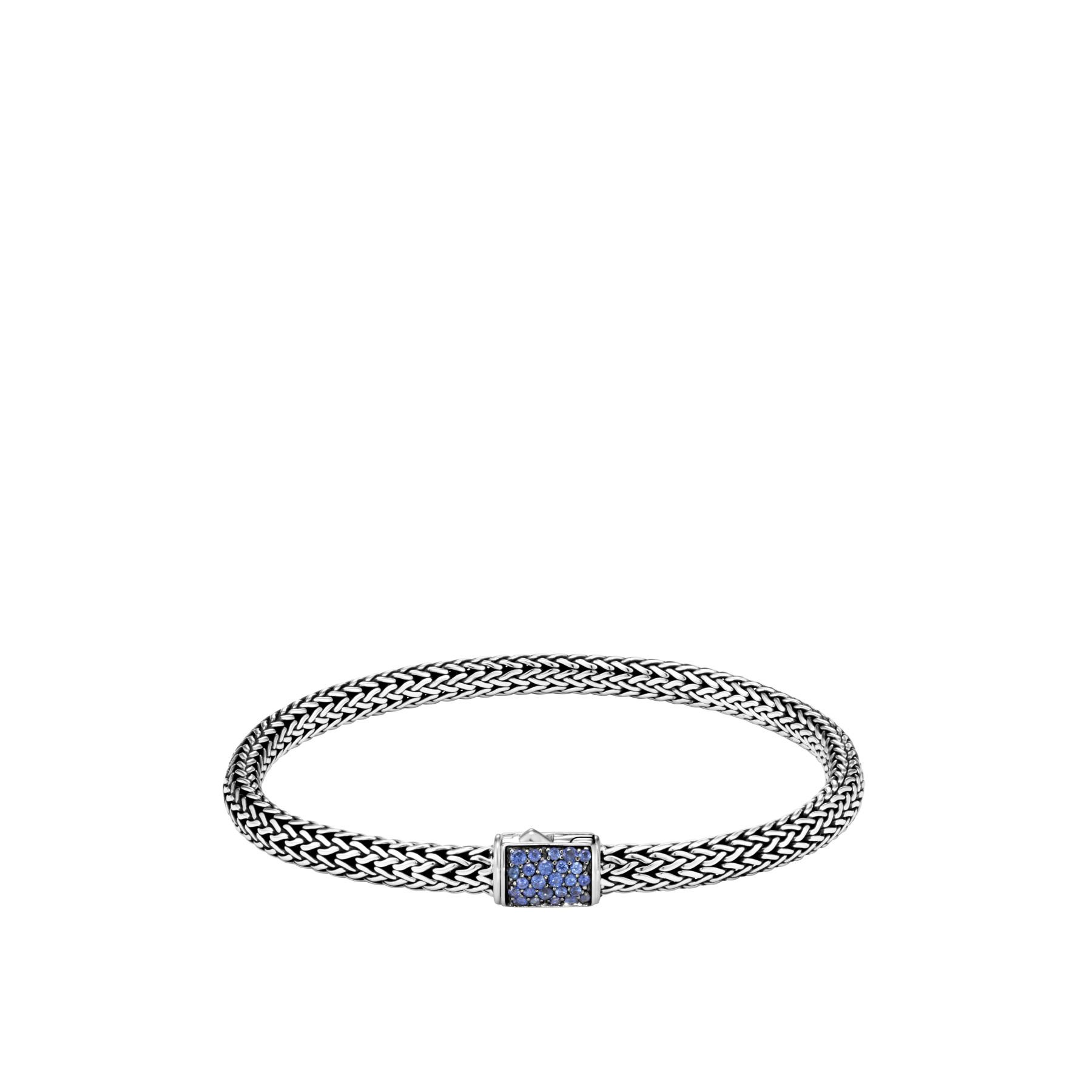John Hardy Classic Chain Blue Sapphire Reversible Bracelet - 5MM FRONT IMAGE