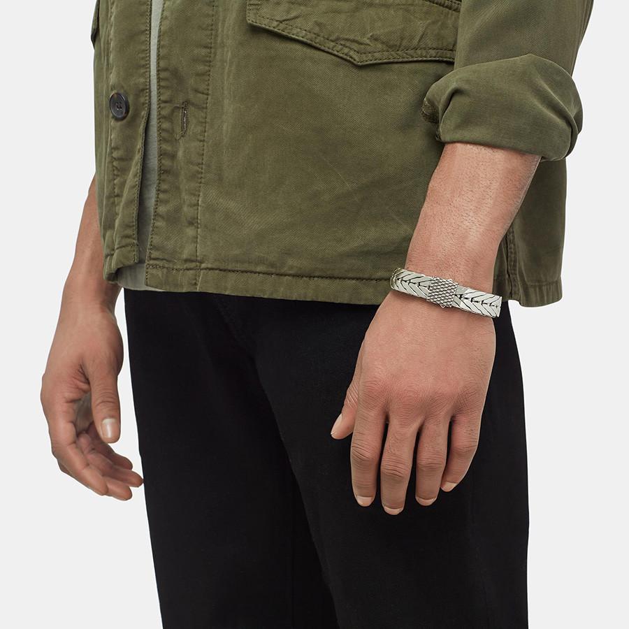 John Hardy Legends Naga Medium Modern Silver Chain Bracelet on Model