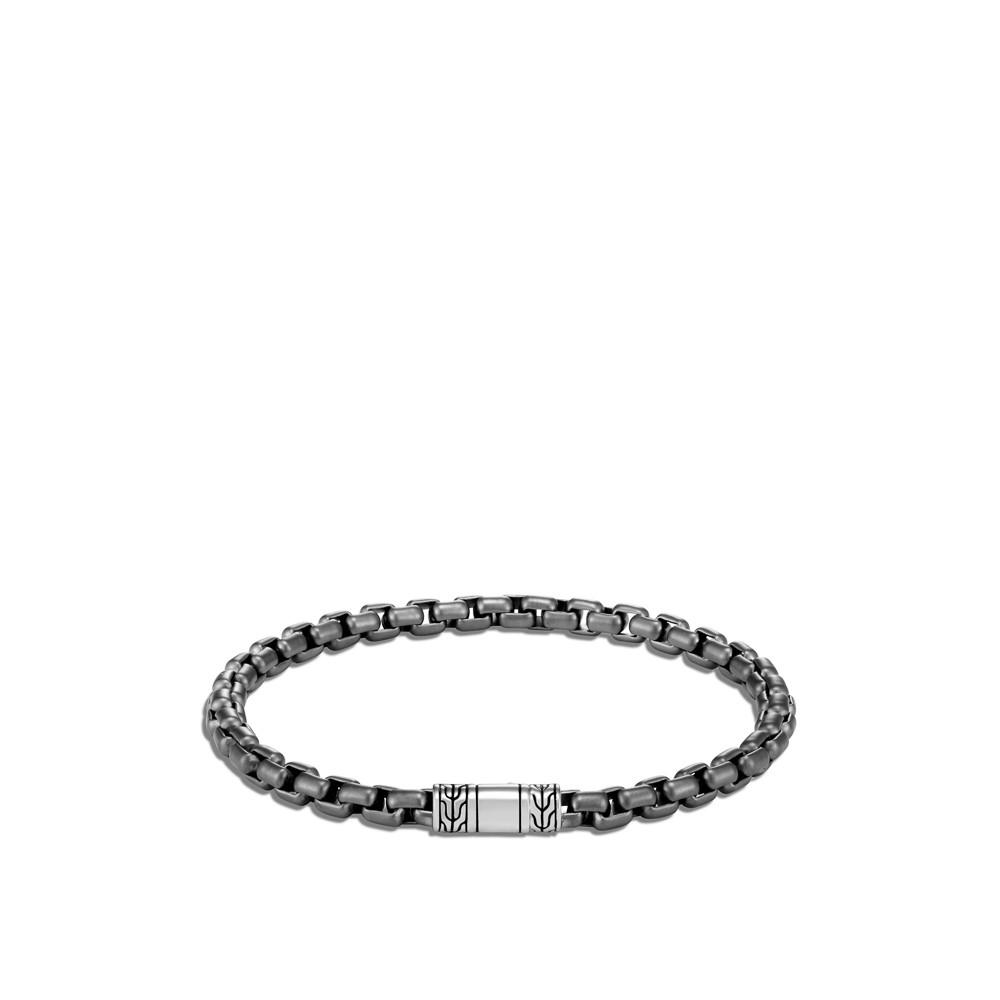 John Hardy Classic Chain Box Chain Bracelet in Black Rhodium