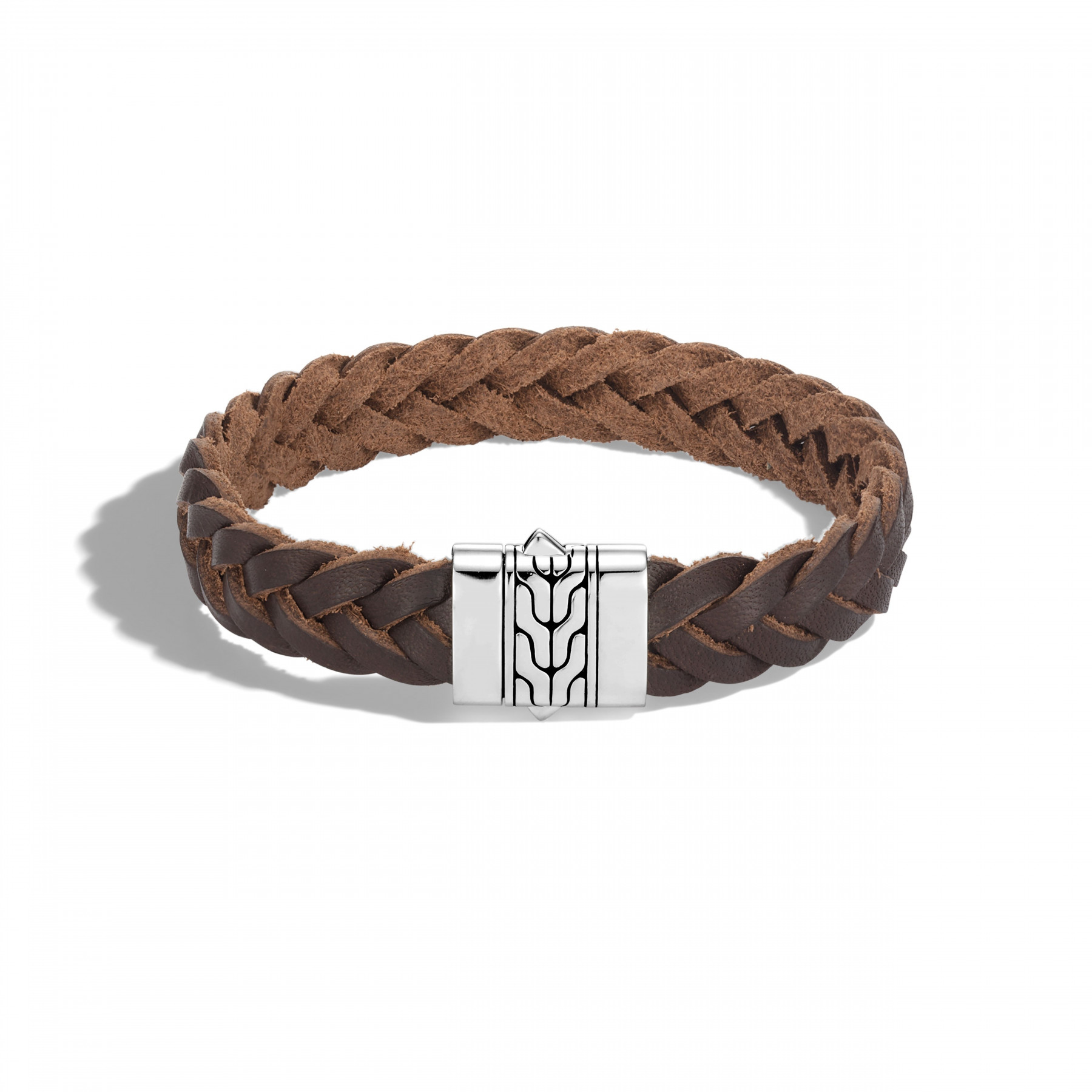 John Hardy Classic Chain Brown Leather Cord Bracelet