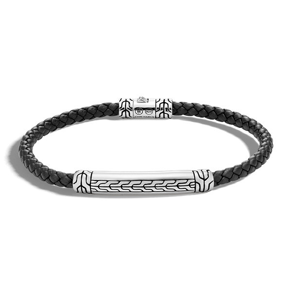 John Hardy Classic Chain Station Leather Bracelet
