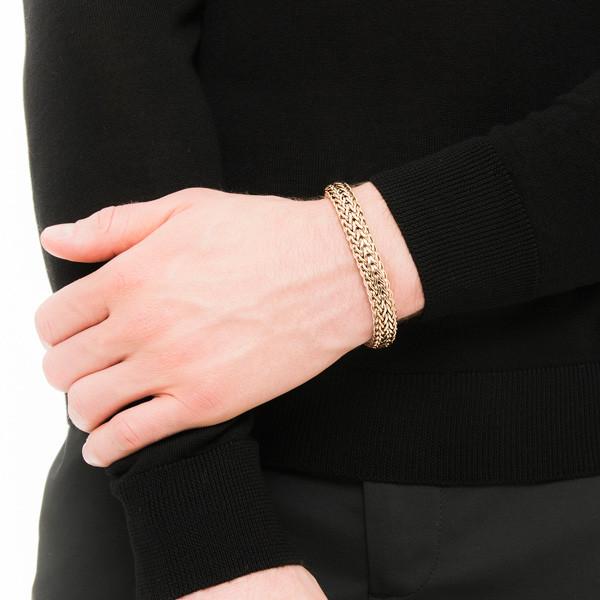 John Hardy Two Tone Small Reversible Small Bracelet on Model