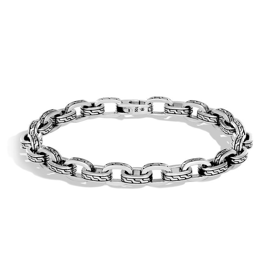 John Hardy Classic Chain Medium Silver Link Jawan Bracelet