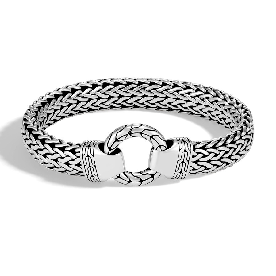 John Hardy Classic Chain Extra Large Ring Clasp Silver Bracelet