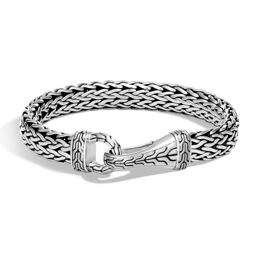 John Hardy Men's Classic Chain Silver Hook Bracelet