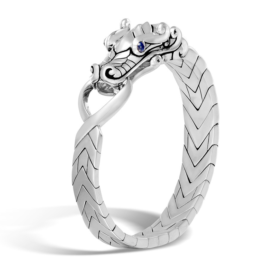 John Hardy Small Legends Naga Silver Dragon Station Bracelet
