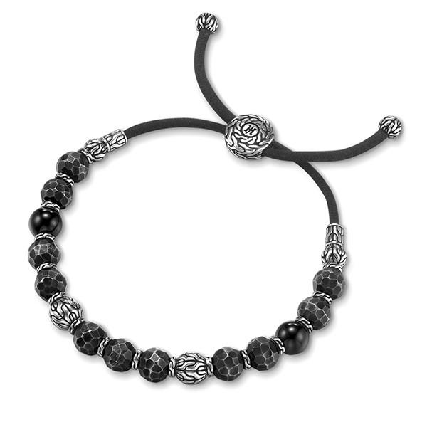 John Hardy Palu Silver & Black Bronze Bead Bracelet Top View