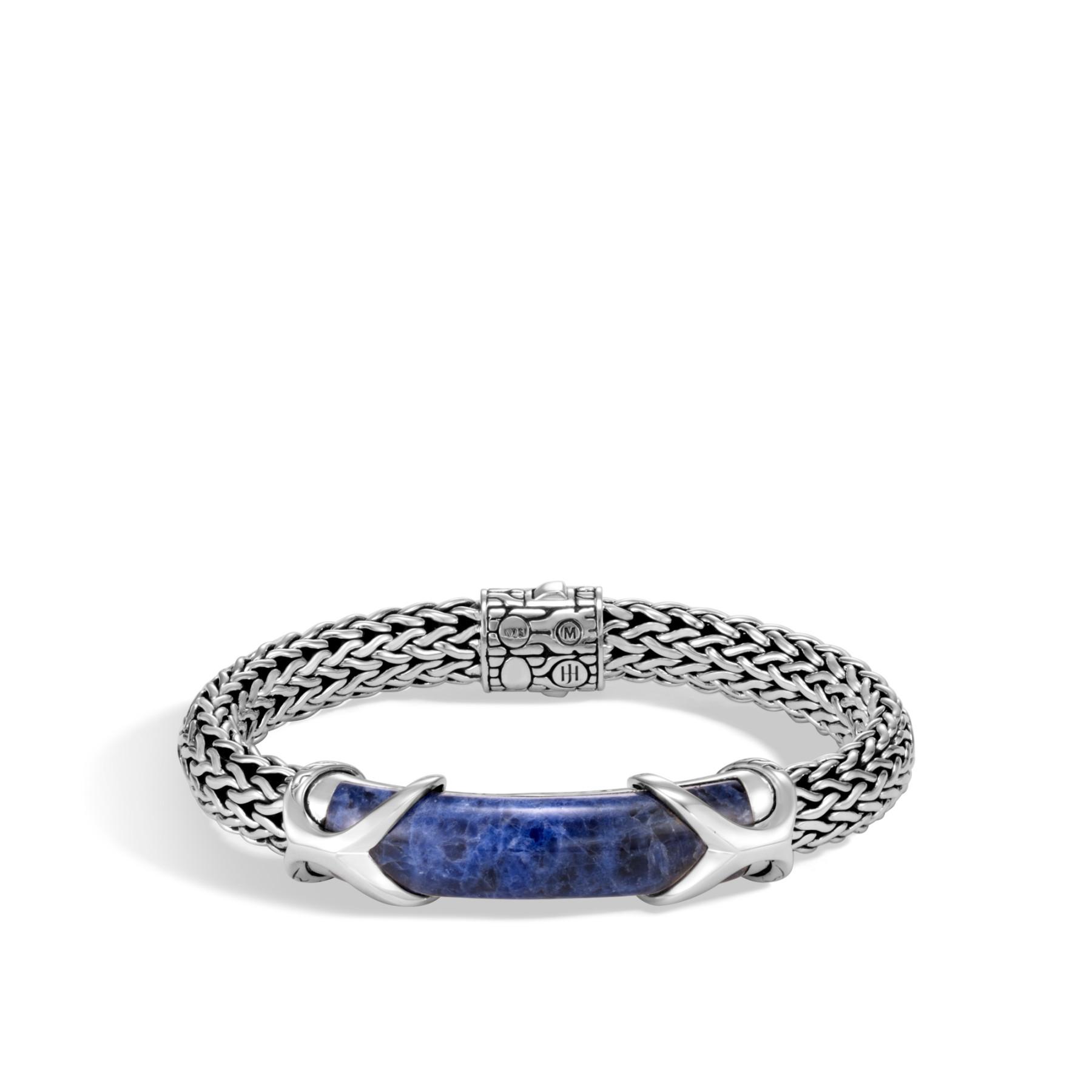 John Hardy Asli Classic Chain Medium Sodalite Station Bracelet
