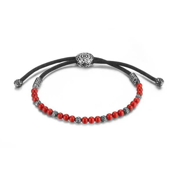 John Hardy Classic Chain Red Coral Bracelet