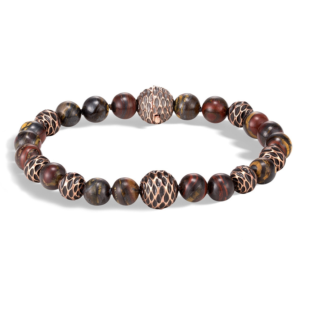 John Hardy Bronze Legends Naga Tiger Iron Beaded Bracelet