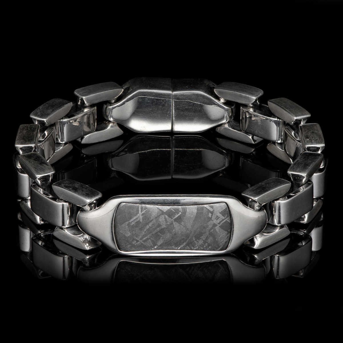 William Henry Meteorite Identity Sterling Bracelet Full Front