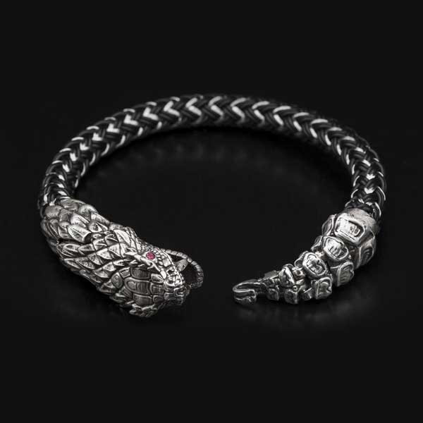 William Henry Full Circle Snake Bracelet
