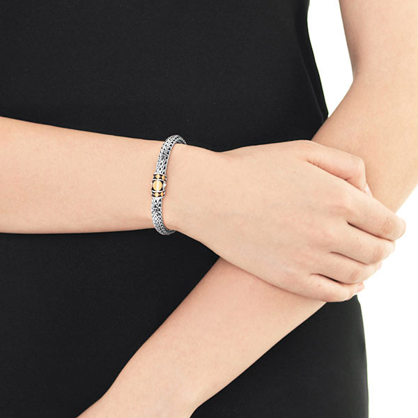 John Hardy Dot Deco Chain Bracelet on Model