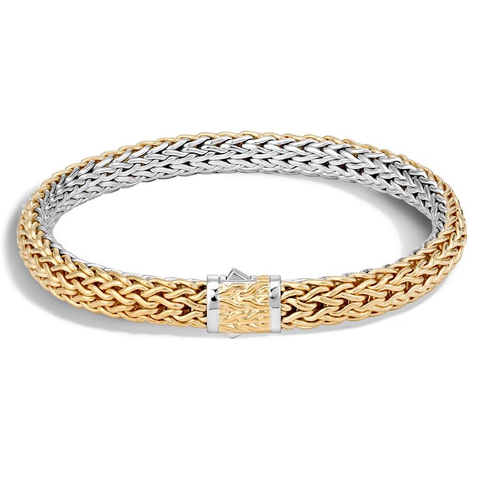 John Hardy Men's Gold & Silver Classic Chain 7.5mm Reversible Bracelet