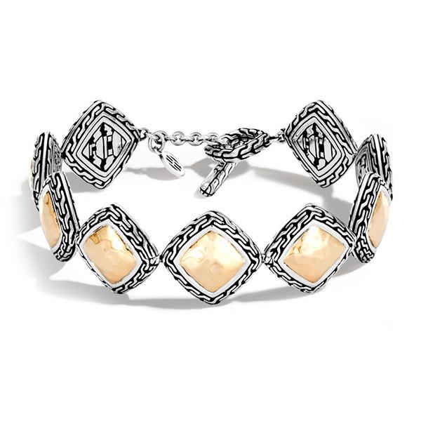 John Hardy Heritage Gold & Silver Quadrangle Toggle Bracelet