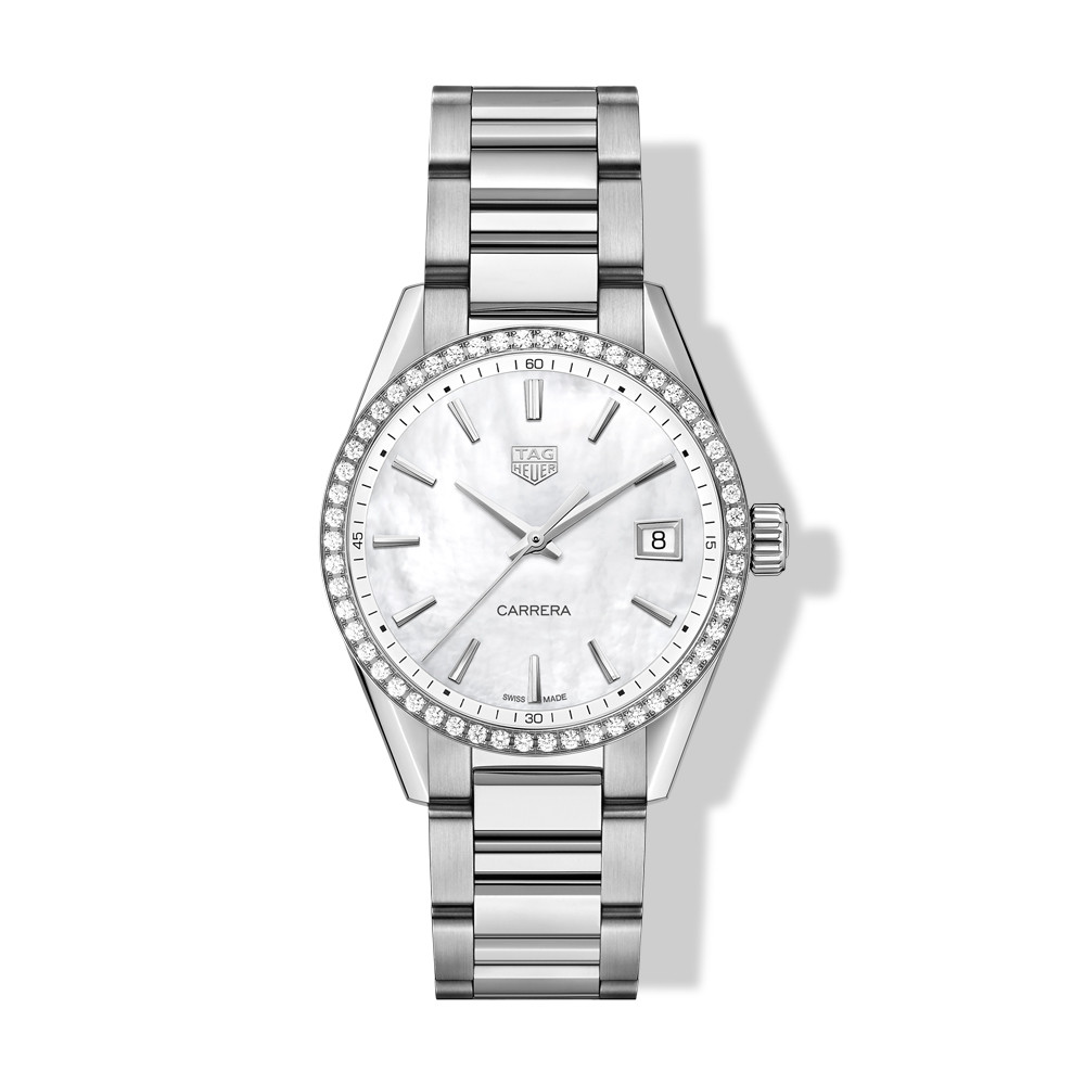 Tag Heuer Stainless Steel Ladies 36 Diamond Watch