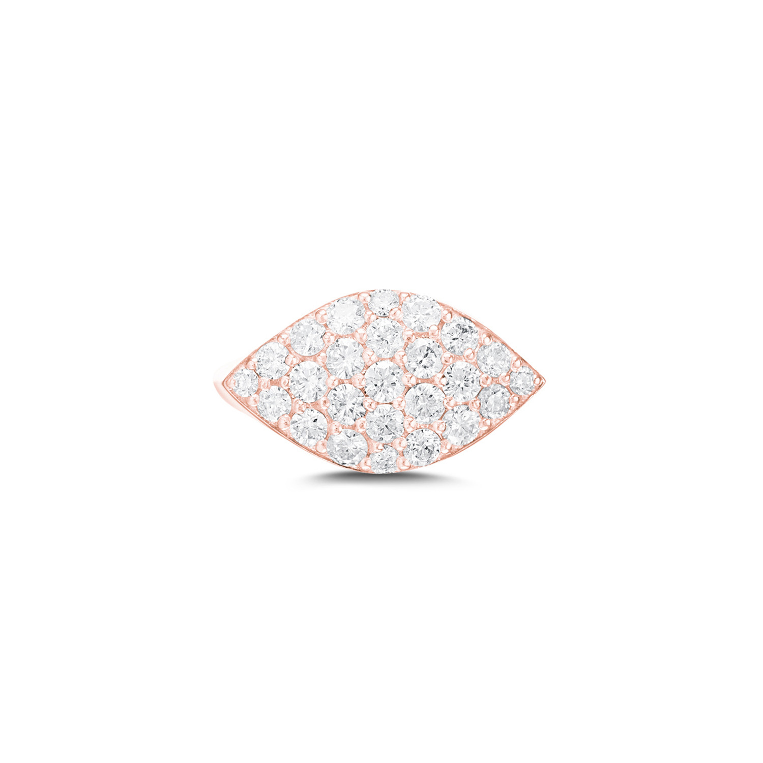Carbon & Hyde Gemma Diamond Pinky Ring in 14K Gold front view