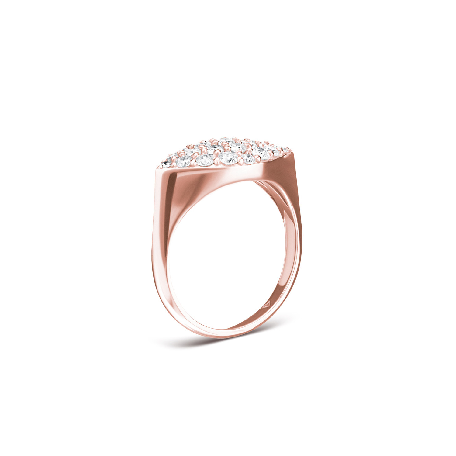 Carbon & Hyde Gemma Diamond Pinky Ring in 14K Gold side view