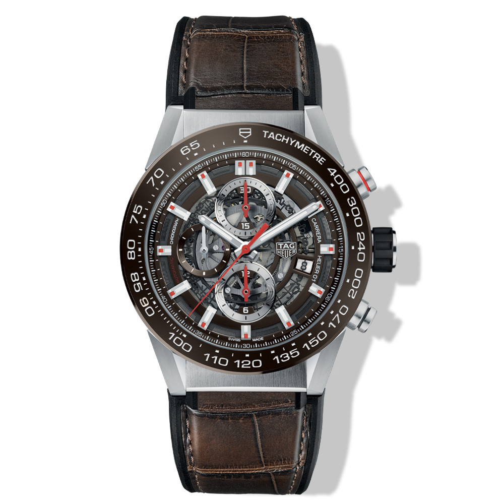 Tag Heuer Carrera Calibre Heuer 01 Brown 43mm Watch