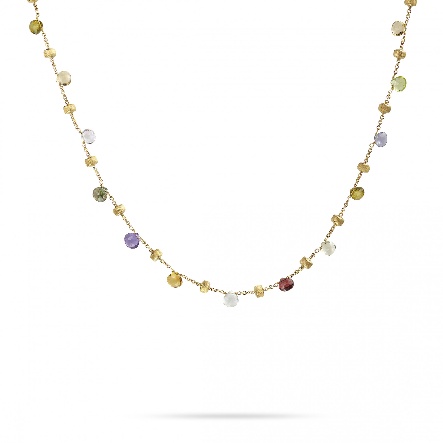 Marco Bicego Paradise 18kt Gold Necklace with Multi-Colored Gemstones 18""